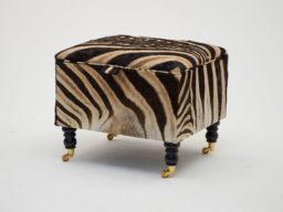 Zebra Skin Storage Footstool